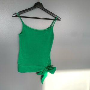Banana Republic Side Tie Tank Green Size XSmall